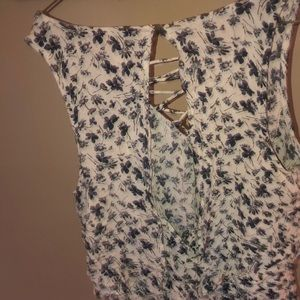 ba7064d6d415 American Eagle Outfitters Pants - Brand New American Eagles White Blue  Floral Romper